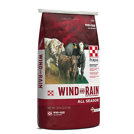 Purina Wind & Rain All Season 7.5 Complete Cattle Mineral, 50 lb. Bag