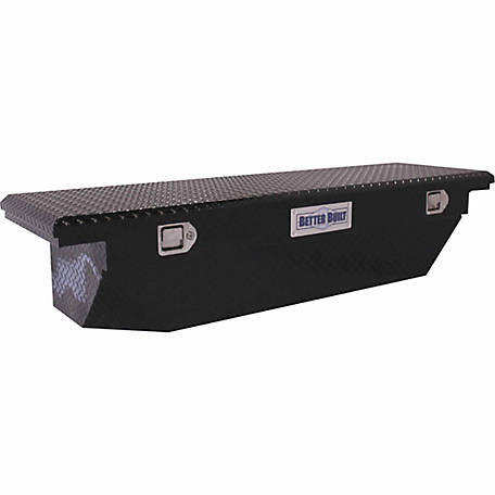 Better Built 61-1/2 in. Crossover Single Lid LO-PRO Universal Truck Tool Box, Black