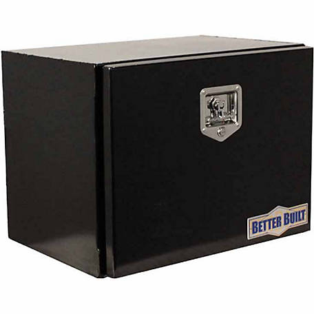 Better Built Black Steel Underbody Tool Box, 17 in. W x 36 in. L x 18 in. H