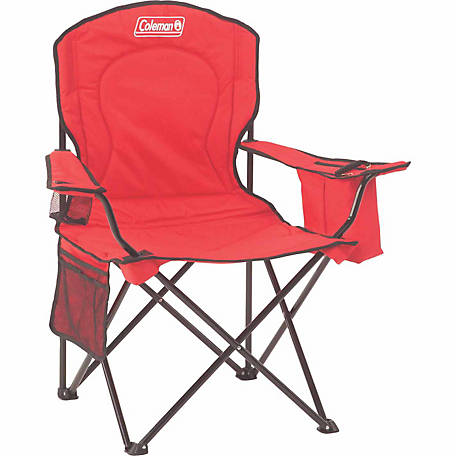 Coleman Adult Quad Chair with Cooler, Red C