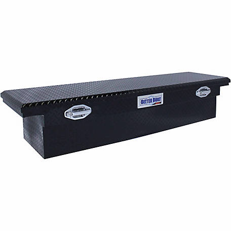 Better Built 72 in. Crossover Single Lid LO-PRO Truck Tool Box, Black