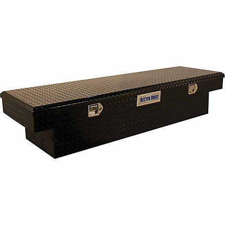 Better Built 61 1 2 In Crossover Single Lid Truck Saddle Tool Box Black 73210943 At Tractor Supply Co
