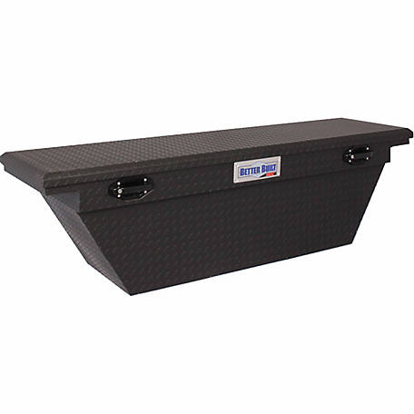 Better Built 63 in. Crossover Single Lid LO-PRO Truck Tool Box, Matte Black, Wedge