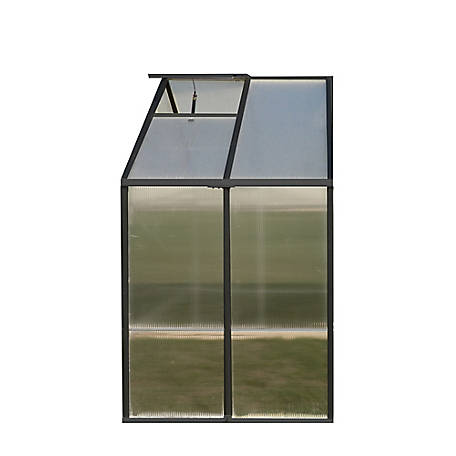 Riverstone Monticello 4 ft. x 8 ft. Black Greenhouse Extension Kit