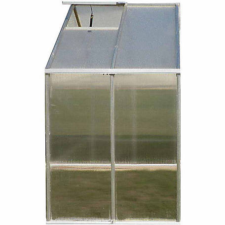 Riverstone Monticello 4 ft. x 8 ft. Aluminum Greenhouse Extension Kit