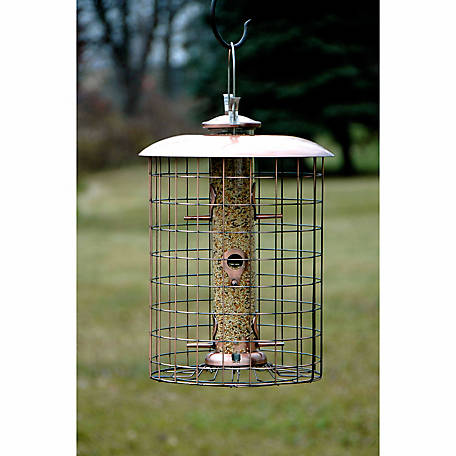 Woodlink Brushed Copper Caged 6-Port Seed Feeder