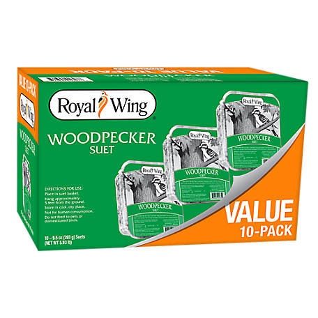 Royal Wing Woodpecker Suet, Pack of 10