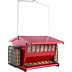 Audubon Seeds N' More Double Sided Hopper Feeder with Suet Holders