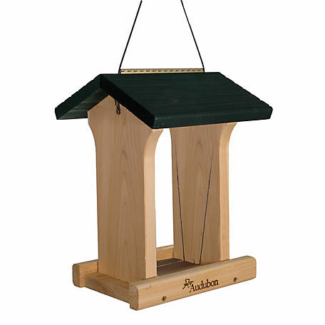 Audubon Deluxe Cedar Feeder with Green Roof