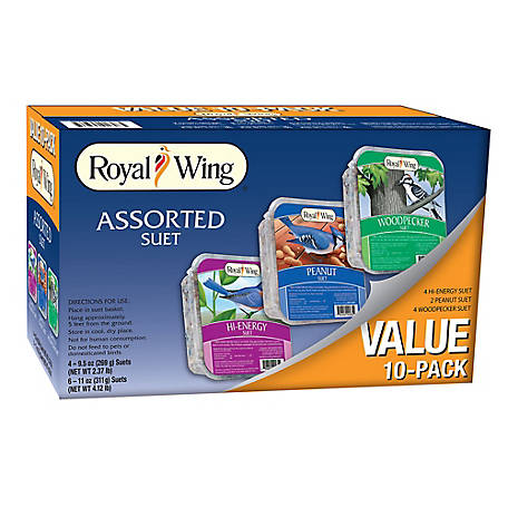 Royal Wing Variety Suet, Pack of 10
