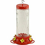 Audubon Large Swirl Glass Hummingbird Feeder, 30 oz.