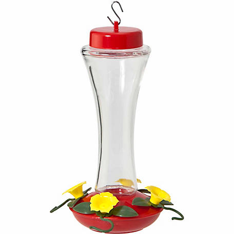 Audubon Trumpet Glass Hummingbird Feeder, 16 oz.
