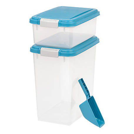 IRIS USA Airtight Food Storage Combo with scoop