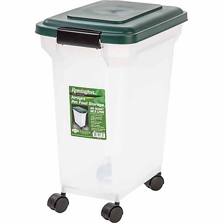 Remington Airtight Pet Food Storage, Hunter Green
