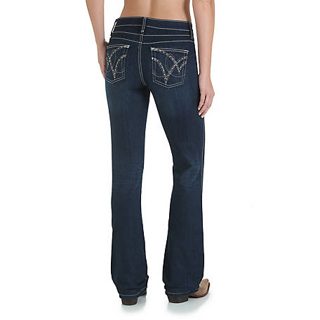 Wrangler Women's Cowgirl Cut Ultimate Riding Jean, Q-Baby with Booty Up Technology