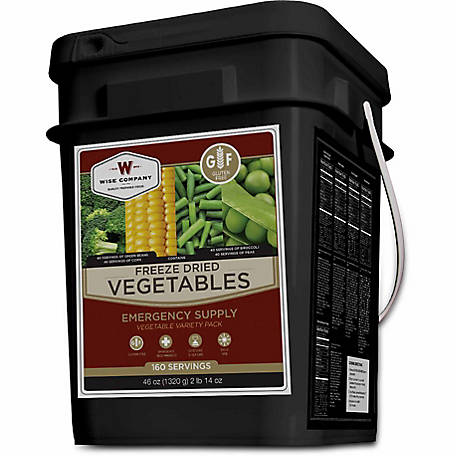 Wise Company Freeze Dried Vegetable Bucket, 160 Servings