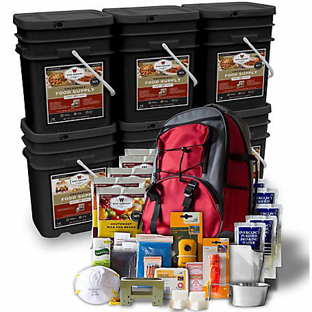 Wise Company 3 Month Emergency Food Supply Package with Bonus 5 Day Survival Backpack, 720 Servings