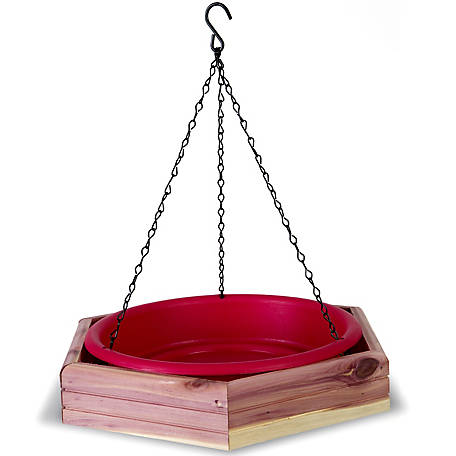 Royal Wing Cedar Hanging 2-in-1 Bird Bath/Feeder