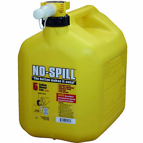 NO-SPILL Diesel Can, 5 gal., CARB Compliant, 1457