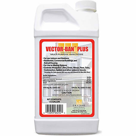 Control Solutions Vector Ban Plus Multi Purpose Insecticide (Permethrin & Piperonyl Butoxide), 1/2 gal.