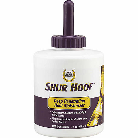 Horse Health Shur Hoof Hoof Moisturizer with Brush, 32 oz.