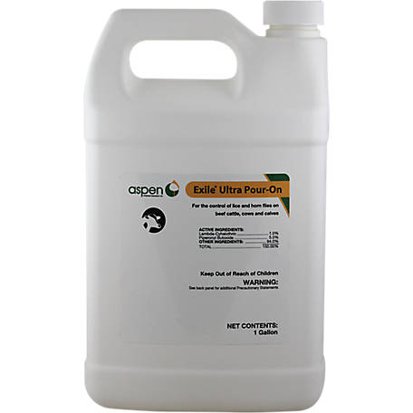 Aspen Vet Resources Exile Ultra Lambda-Cyhalothrin & Piperonyl Butoxide Pour-On, 1 gal.
