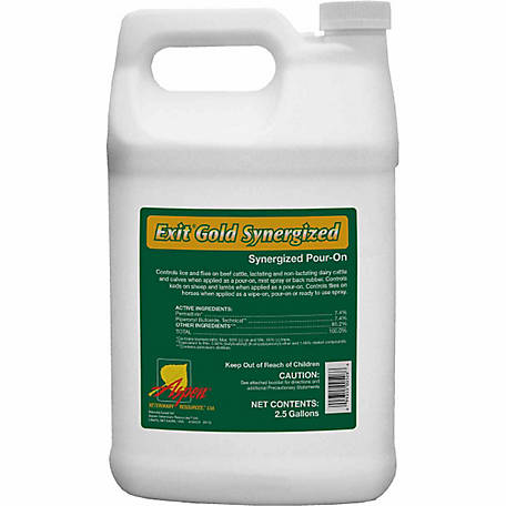 Animal Health International Exit Gold Synergized Pour-On, 2-1/2 gal.