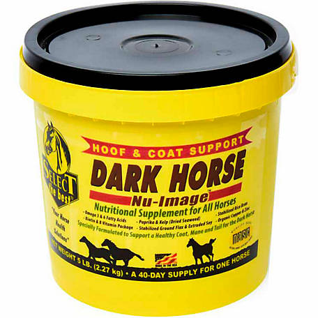 Select The Best Dark Horse Nu Image Hoof and Coat Support, 5 lb.