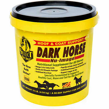 Select The Best Dark Horse Nu Image Hoof and Coat Support, 10 lb.