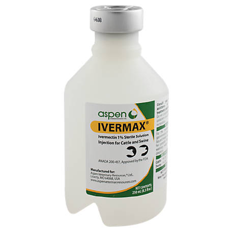 Aspen Vet Resources Ivermax Injectable 1%, 250 mL