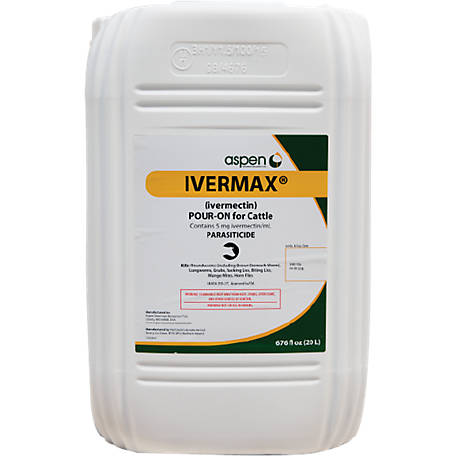 Aspen Vet Resources Ivermax Pour-On, 20 Liter