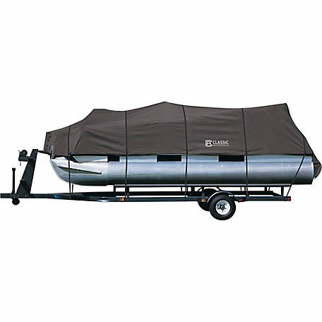 Classic Accessories Stormpro Trailerable Pontoon Boat Cover, Charcoal, 102 in. Beam Width x 21 ft. to 24 ft. L