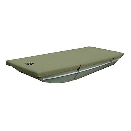 Classic Accessories Jon Boat Cover, Olive, 62 in. Beam Width x 14 ft. L