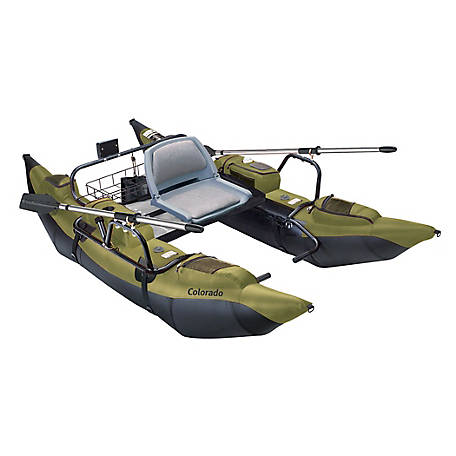 Classic Accessories Colorado Pontoon Boat, Sage and Black, 56 in. W x 108 in. L