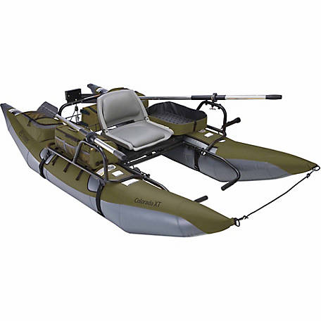 Classic Accessories Colorado XT Pontoon Boat, Sage and Grey, 56 in. W x 108 in. L