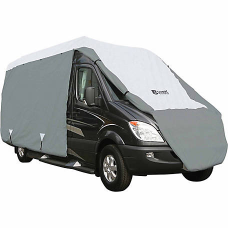 Classic Accessories Polypro 3 Class B RV Cover, Grey and Snow White, 26 in. x 96 in. x 276 in.