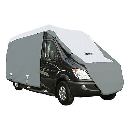Classic Accessories Polypro 3 Class B RV Cover, Grey and Snow White, 26 in. x 96 in. x 300 in.