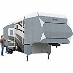 Classic Accessories Polypro 3 5th Wheel RV Cover, Grey and Snow White, 24 in. x 106-1/2 in. x 282 in.