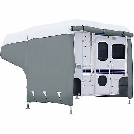 Classic Accessories Polypro 3 Deluxe Camper Cover, Grey and Snow White, 16-1/4 in. x 99 in. x 236 in.
