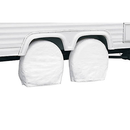 Classic Accessories Overdrive RV Wheel Cover, Snow White, 36 in. to 39 in. Wheel Diameter, 9 in. Tire Width