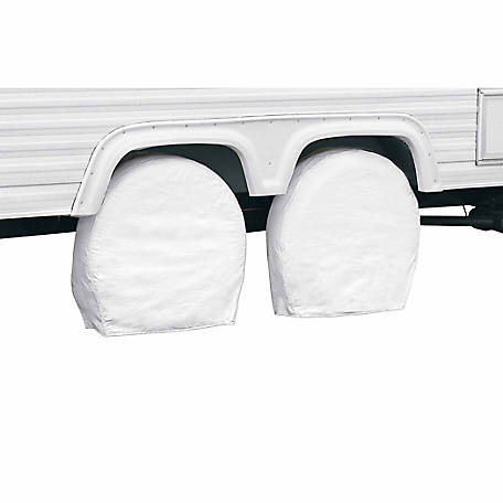 Classic Accessories Overdrive RV Wheel Cover, Snow White, 40 in. to 42 in. (Bus) Wheel Diameter, 9.25 in. Tire Width