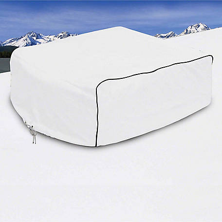 Classic Accessories Overdrive RV Air Conditioner Cover, Snow White, 11-3/4 in. x 12-3/4 in. x 41 in.