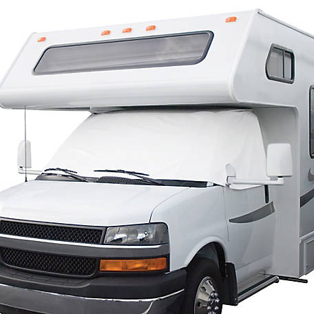 Classic Accessories Overdrive RV Windshield Cover, Snow White, 12 in. x 52 in.