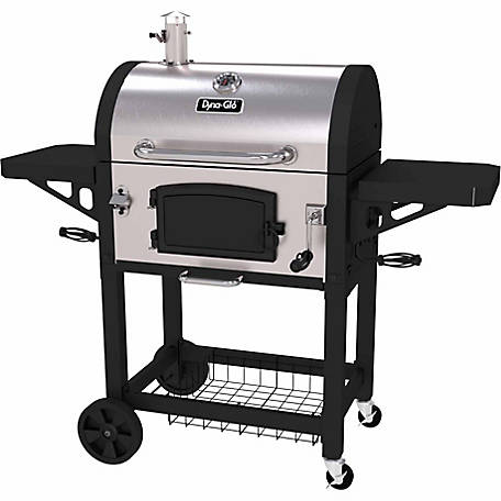Dyna-Glo Heavy-Duty Charcoal Grill, Stainless, DGN486SNC-D