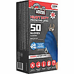 Grease Monkey Disposable Heavy-Duty Latex Gloves, Blue, Pack of 50