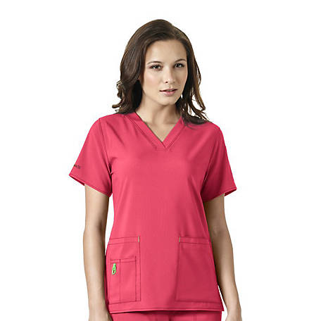 Carhartt Women's Scrubs Cross-Flex V-Neck Tech Top, C12110