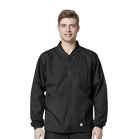 Carhartt Men's Scrubs Ripstop Zip Front Jacket