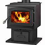 WoodPro WS-TS-1500 EPA-Certified Wood Stove with Blower Heats up to 1,000 sq. ft.