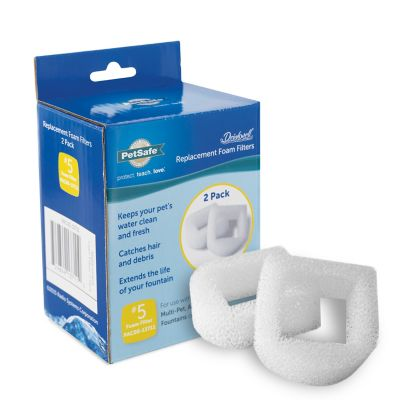 PetSafe Drinkwell 360 & Ceramic Foam Replacement Pre-Filters; Pack of 2