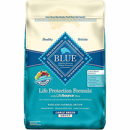 Blue Buffalo Life Protection Formula Fish & Oatmeal Recipe For Large Breed Adult Dogs, 30 lb.